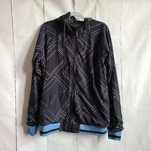 Reversible billabong black hoodie jacket zip up
